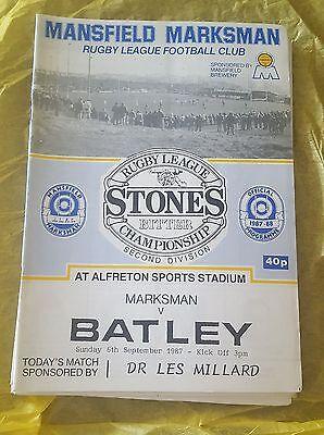 Mansfield Marksman vs. Batley - 6/9/1987