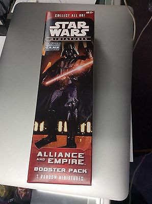 STAR WARS Miniatures Alliance empire  Booster Pack Box Factory Sealed