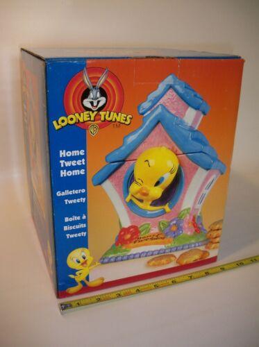 """Warner Bros. Looney Tunes Tweety Bird """"Home Tweet Home"""" Cookie Jar, NIB! Rare!"""