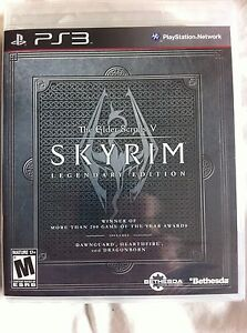 The Elder Scrolls V: Skyrim Legendary Edition (Sony Playstation 3, 2013) NEW