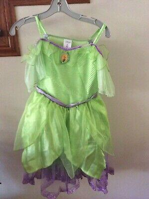 Disney Store Tinkerbell Fairy Princess Costume Girls 9/10 Halloween,Play, Bday