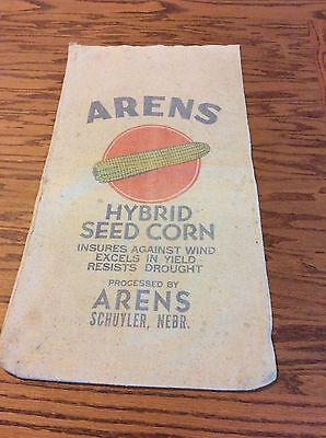 Old Cloth Farm Corn Seed Sack Arens Schuyler Nebraska