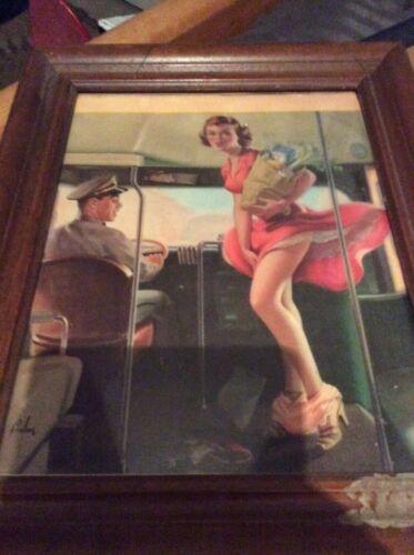 "Original 1955 Frahm lithograph ""a fare loser"" not a reproduction"