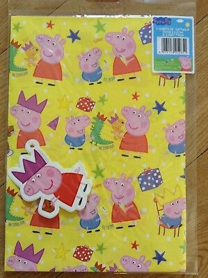 Peppa Pig Birthday Wrapping Paper (2 sheets/2 tags)](Peppa Pig Wrapping Paper)