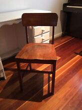 Vintage old school timber wooden chair Grays Point Sutherland Area Preview