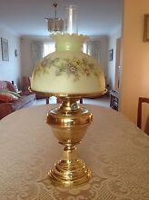 German antique brass oil lamp Cherrybrook Hornsby Area Preview