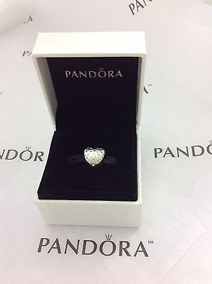 New 100  Pandora Sterling Silver   Clear Cz Sparkle Of Love Charm 791241Cz