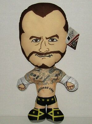 """CM Punk WWE Wrestling Brawlin Buddies 17"""" Plush Toy NEW"""