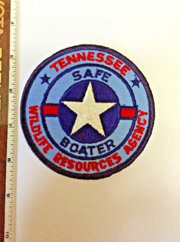 Vintage Safe Boater Tennessee Wildlife Resources Agncy DNR Police Shoulder Patch