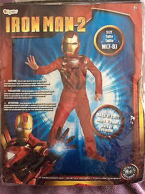 NEW Disguise Iron Man 2 Halloween Costume Mask Sz Medium 7-8 Mark VI Suit (Iron Man Mark 2 Costume)