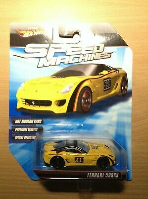 Hot Wheels Speed Machines Ferrari 599XX Yellow New on Sealed Card 2009