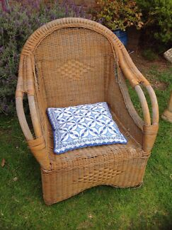 Vintage rustic old cane chair  Eden Hill Bassendean Area Preview