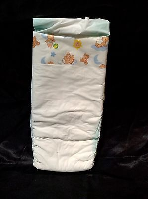 Vintage Bunnyhugs Brand Plastic Backed Baby Diaper Size 5 XL Dated 1988