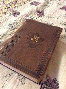 Antique leather bound collection of Ralph Waldo emerson