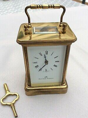 Matthew Norman '1754' Brass Carriage Clock in fine condition