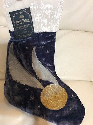 Pottery Barn Kids Harry Potter Golden Snitch Christmas Stocking NWT No Mono (Harry Potter Mono)
