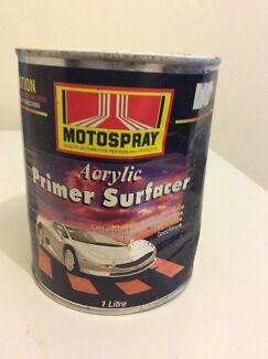 Motospray Acrylic Primer Surfacer 1L North Parramatta Parramatta Area Preview