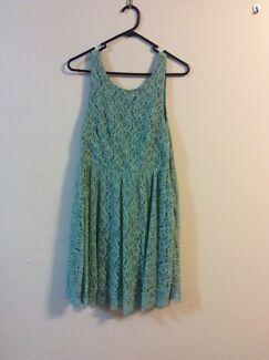 Lace Green Backless Size 12 Dress Hilton Fremantle Area Preview