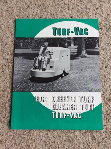1960s Turf-Vac,  original Turf cleaner, Turf Vac.  sales information.