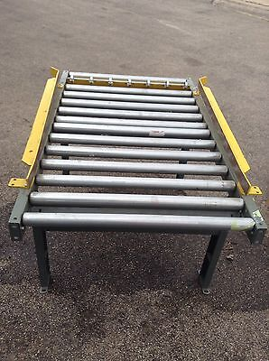 Hytrol Conveyor Roller Adjustable Table 36x60 Spring Roller Stop And Side Rails