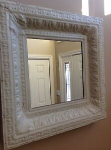 Beautiful mirror made from reclaimed tin ceiling
