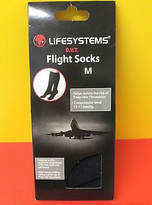 Lifesystems DVT Flight Socks Unisex Men's Ladies Flight Travel Comfy Medium Size