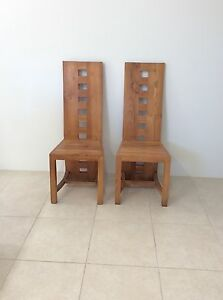 Pair of Teak dining chairs Innaloo Stirling Area Preview