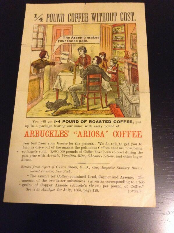 RARE Arbuckles Coffee Ad Mocking Competitors Coffee