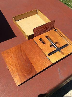 Vintage Antique Lufkin Micrometer Depth Gauge Original Box