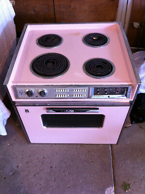 "Vintage GE Mark 27"" Electric Range-Stove 1960's Pink Mid Century - Drop-In Stove"
