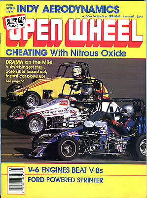 Open Wheel Magazine June 1987 Drama On The Mile EX 020216jhe