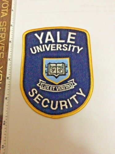 Yale University Connecticut Security Police Shoulder Patch New