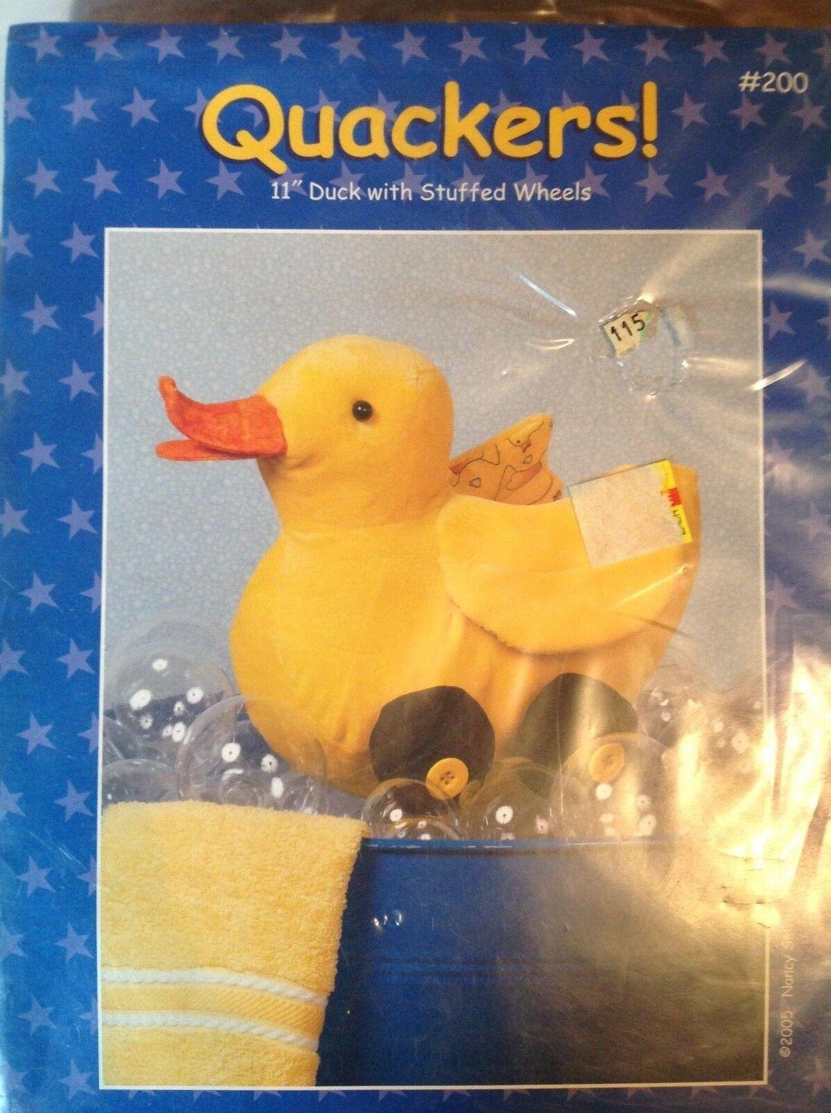 "Possibilities Dream Spinners Pattern Quackers! NIP 11"" Duck"