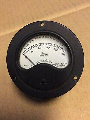 4 Vintage Burlington Dc Milliamperes Volt Meter Model 421 Range 0-150