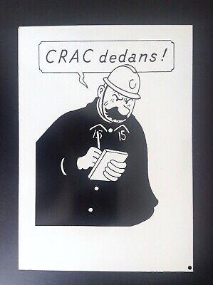 Jolie Plaque émaillée Hergé Quick et Flupke Agent 15 Crac dedans ! No Tintin
