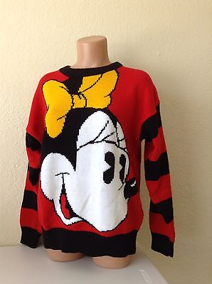 Vintage Women's Disney 80's Minnie Mickey Mouse sweater - Medium - M