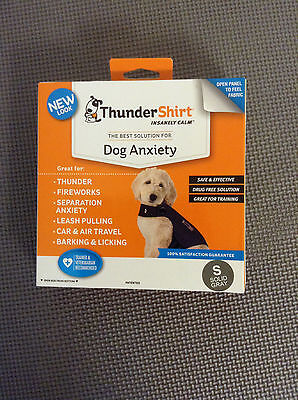 Thundershirt Dog Anxiety Treatment HGS-T01, SMALL Heather Gray UPC: 854880001158
