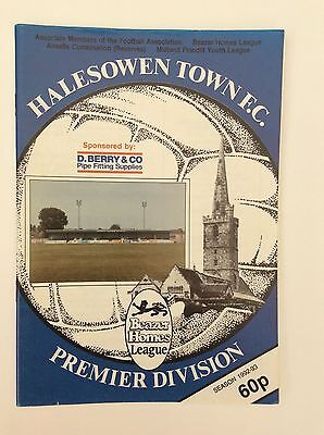 Halesowen Town V  Solihull Borough Beazer Homes Leauge December 1992