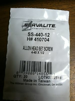 ALLEN HEAD SET SCREW 4-40 X 1/2