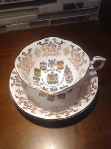 Canada Coats of Arms & Emblems China Tea Cup & Saucer by Paragon