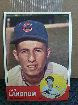 1963 Topps   113 Don Landrum                   Ex Mint                 Rb 1956