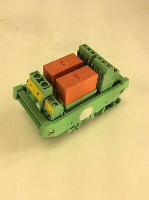 Phoenix Contact Relay Terminal Block Dinkle Rm202 W 2-tyco Rt424024 Relays