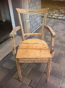 Stripped Hard Wood Chairs
