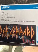 Def Leppard tickets for Tuesday 17 Nov Wyee Lake Macquarie Area Preview