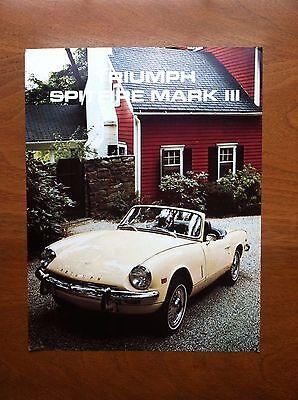 TRIUMPH SPITFIRE MK III SALES BROCHURE, ORIGINAL ITEM, NOT A RE-PRINT