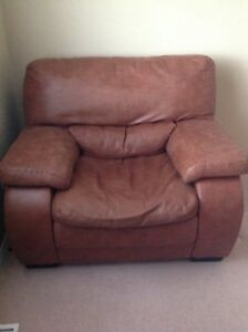 Single leather sofa chair for sale