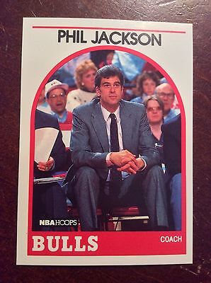 1989 90 Hoops Phil Jackson  266 Chicago Bulls