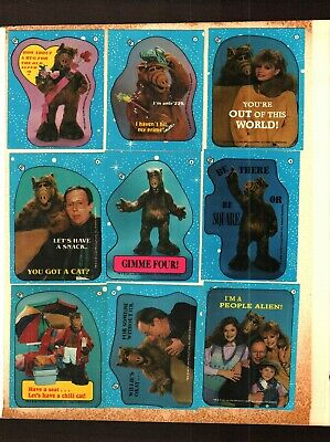 1987 Topps Alf Series 1 Trading Card Stickers PICK 1 FOR $1.00  VG TO EX.