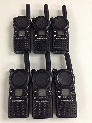 Motorola Cls1110 5-mile 1-channel Uhf 2-way Radio Great Condition Lot Of 6
