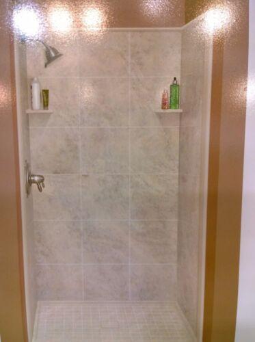 "NIB Elegant  Imitated Granite Solid-Surface 48""-W SHOWER Surround WALL Set"